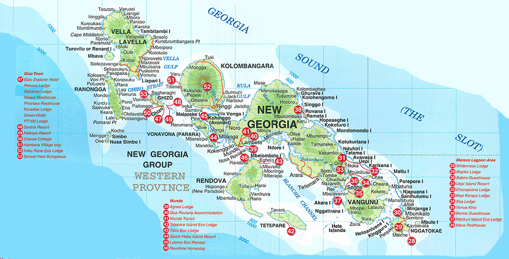 Maps Of The Solomon Islands Solomon Islands Activities - Georgia map islands