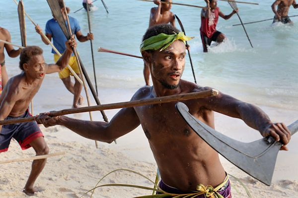 Wogasia Festival : Spear Throwing : Santa Catalina : Solomon