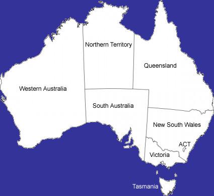 Map Of States Of Australia.Map Of Australia Australian States Touring Hotels Booking