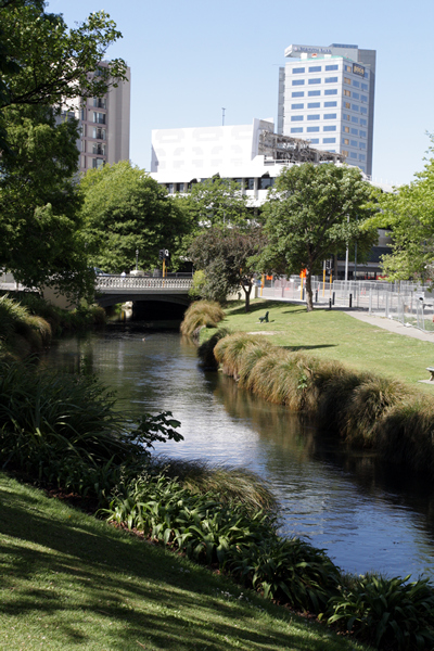 Avon River, Christchurch NZ after the earthquakes