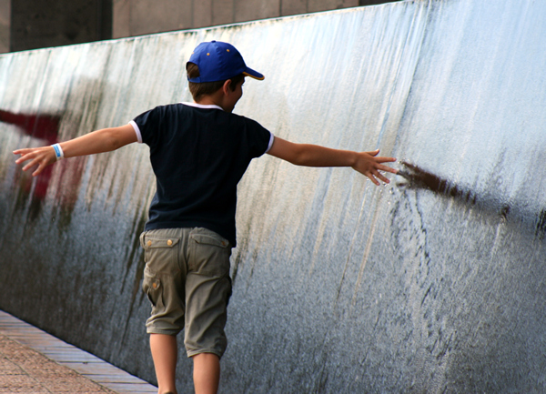 Water wall, art gallery,  Christchurch